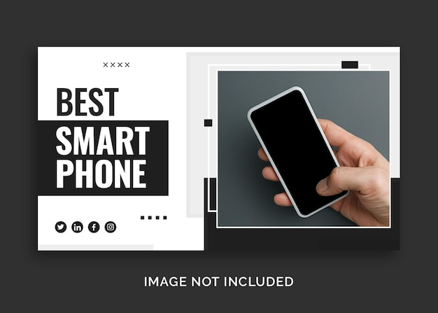 최고의 휴대 전화 youtube 미리보기 이미지 또는 웹 배너 템플릿
