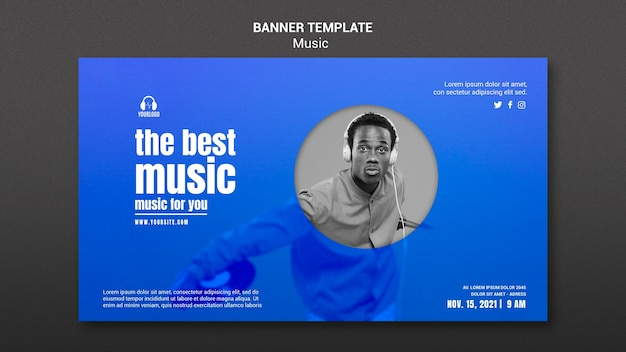 The best music banner template