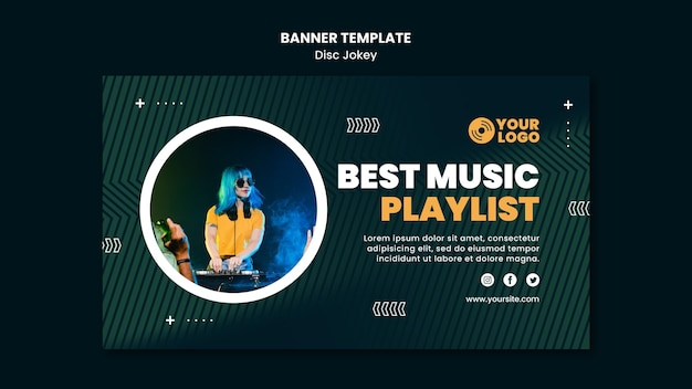 Best music playlist banner template
