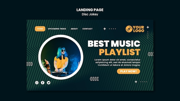 Best music playlist landing page template
