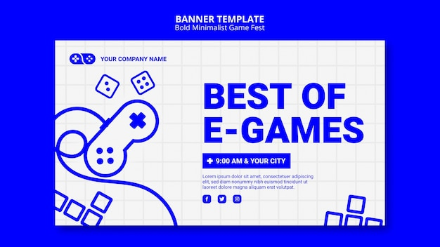 最高のeゲームゲームジャムフェストバナーテンプレート