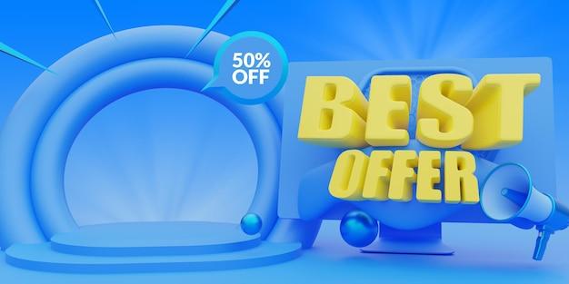 소셜 미디어 게시물 배너 템플릿에서 최고의 온라인 쇼핑 프로모션 제공