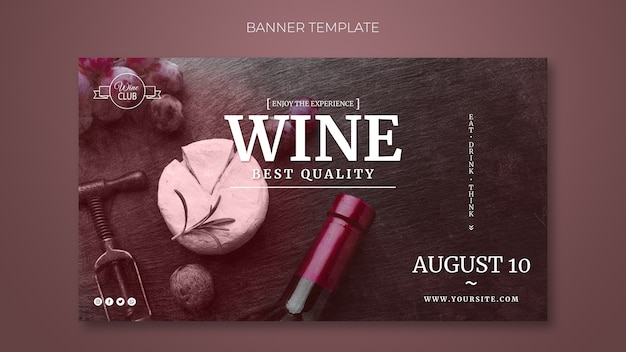 Best quality wine banner template