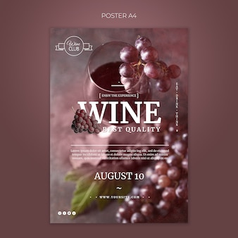 Best quality wine poster template