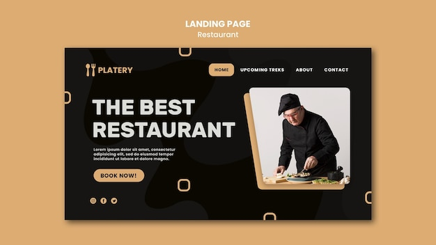 The best restaurant landing page template