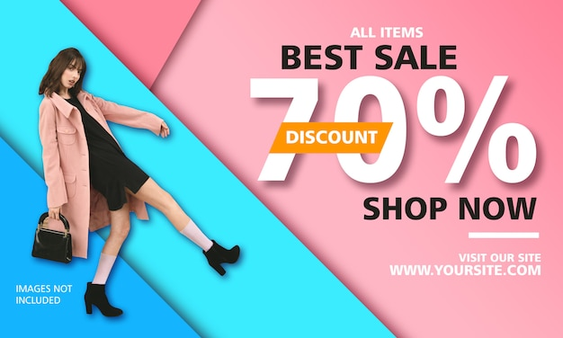 Best sale promotion poster template