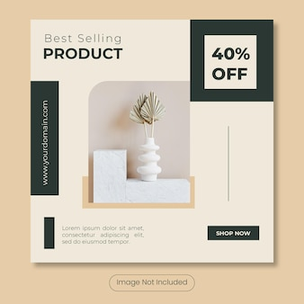 Best selling product home furniture  instagram post banner template
