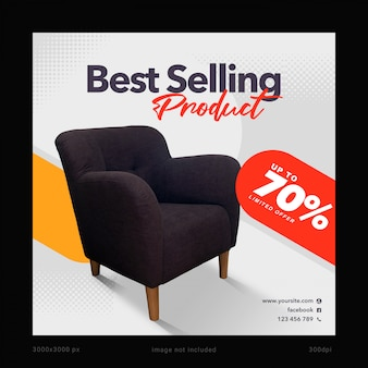 Best selling product social media banner template