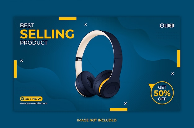 Best selling product web banner template