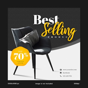 Best selling social media banner template