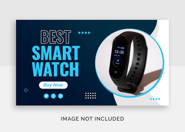 Best smart watch youtube thumbnail or web banner template