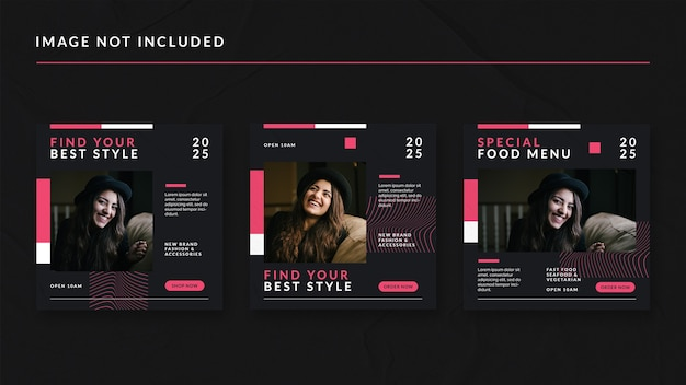 Best style social media post template