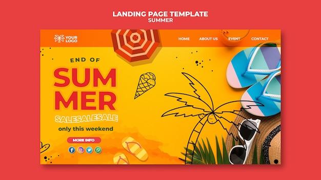 Best summertime sales landing page