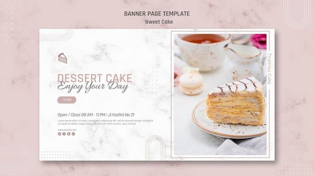 Best sweet cake shop banner template