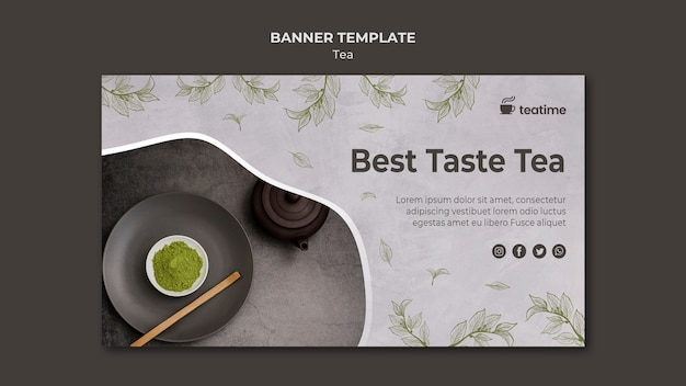Best taste tea banner template