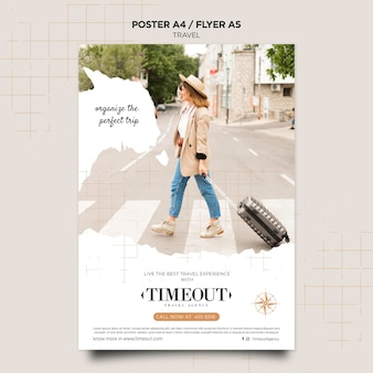 Best travel experience poster template