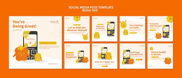 Better self social media posts