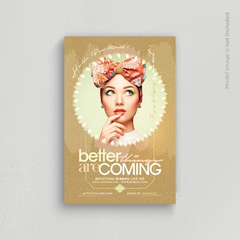Better things are coming flyer template