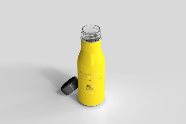 Beverage bottle mockup