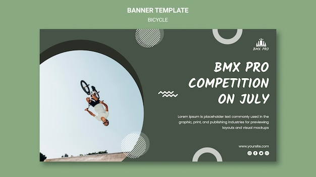 Bicycle banner template design