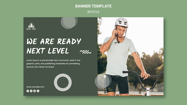 Bicycle banner template theme