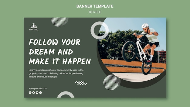 Bicycle banner template