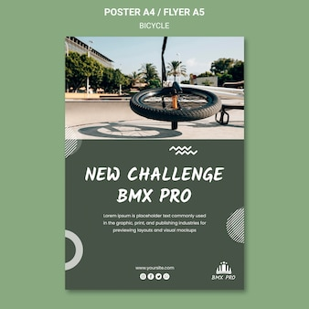 Bicycle flyer template concept