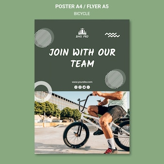 Bicycle flyer template design