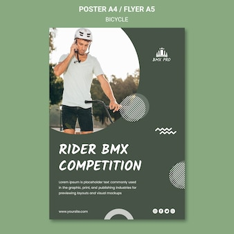 Bicycle flyer template theme