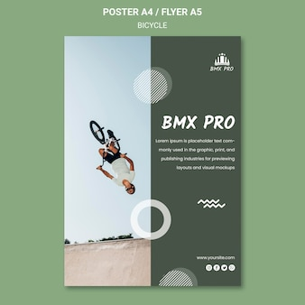 Bicycle flyer template