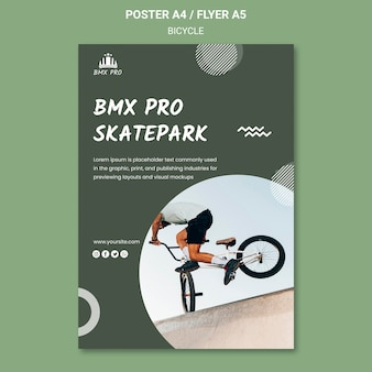 Bicycle poster template concept
