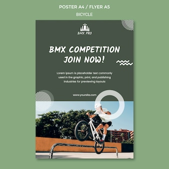 Bicycle poster template design