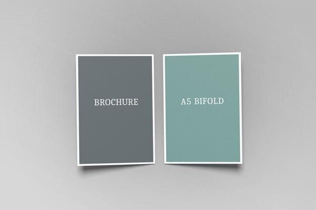 Bifold a5パンフレットモックアップ