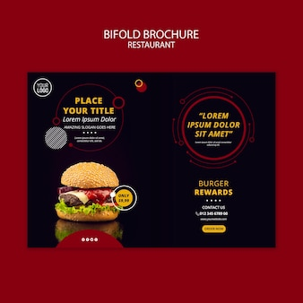 Bifold brochure design for restaurant