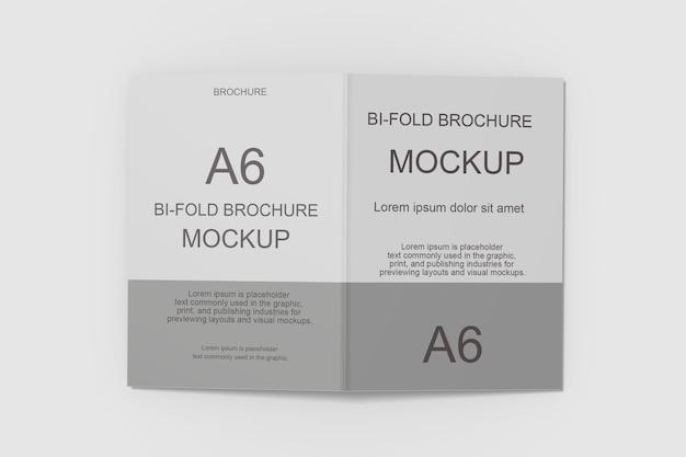 3d 렌더링에서 bifold 브로셔 모형 디자인