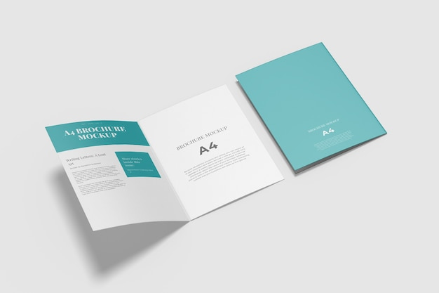 Bifold brochure mockup isolated
