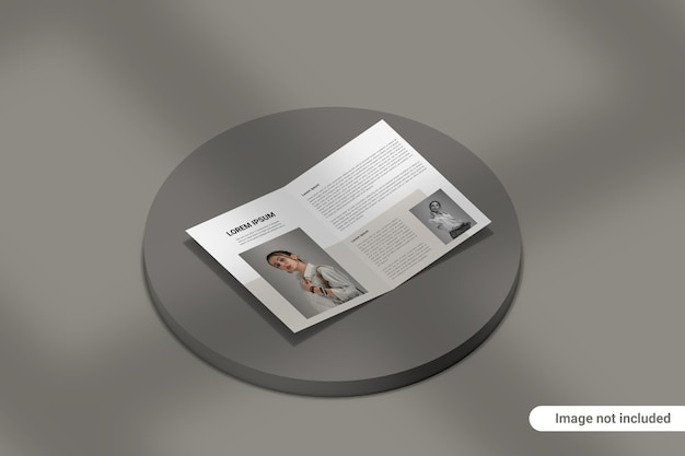 Двойной макет брошюры