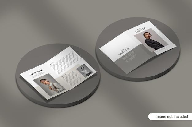Двойной макет брошюры Premium Psd