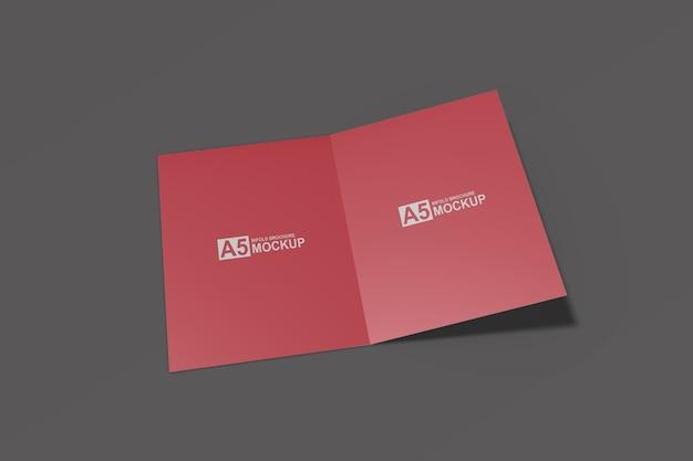 二つ折りパンフレットプレゼンテーションモックアップ