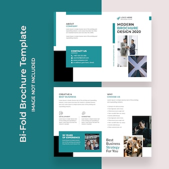 企業のビジネスエージェンシーのための二つ折りパンフレットテンプレートデザインデザイン