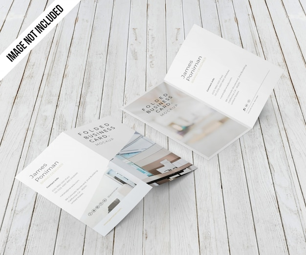 Bifold business card mockup