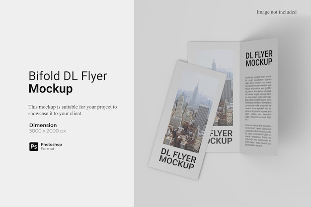Bifold dl flyer mockup design isolated