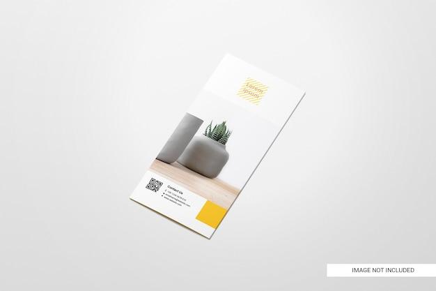 二つ折りチラシパンフレットモックアップ