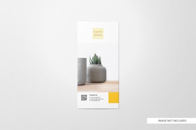 Bifold flyer brochure mockup