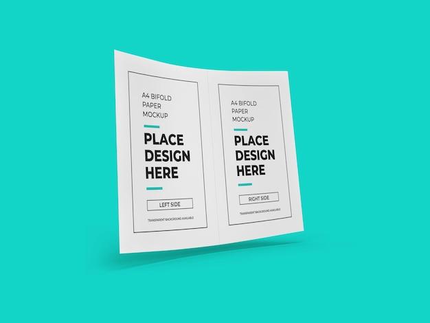 Двойной дизайн макета флаера изолированные