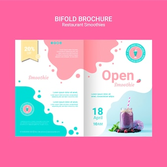 Bifold smoothie brochures template