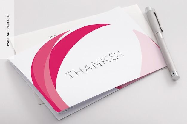 이중 감사 카드 psd 프로토 타입