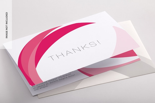 Bifold thank you card psd mockup