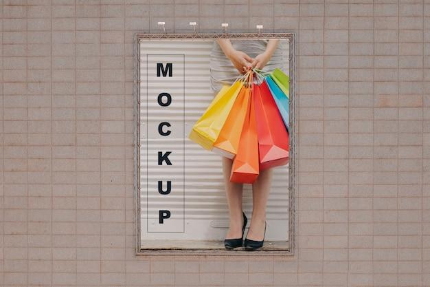 Big billboard mockup on wall