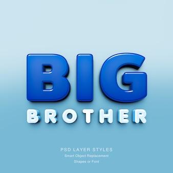 Big brother 3dテキスト効果